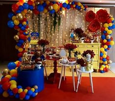 Ballon Decorations, Princess Party Decorations, Birthday Party Decorations, Baby Shower Decorations, Baby Shower Themes, Beauty And The Beast Bedroom, Beauty And Beast Birthday, Beauty And The Beast Theme, Disney Princess Birthday Party