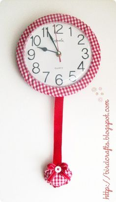 Gingham Clock.....CHECK!