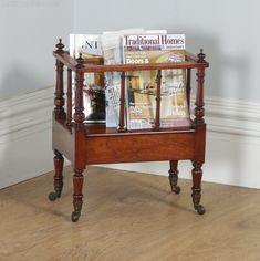 Popular Brand Antique Georgian Style Mahogany Canterbury Magazine Rack Antiques Antique Furniture