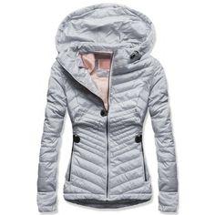 cbfed8eee1c5 Dámská jarní podzimní bunda Leria šedá – šedá – stylová prošívaná bunda –  zadní strana
