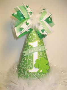 Personalized St Patricks Day  Birthday Party Hat by DoodlesDotsnDimples, $13.25 http://www.etsy.com/shop/DoodlesDotsnDimples