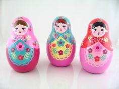 Russian Doll ceramic Money Box in enamel. 15GBP. From Matryoshka Russian Dolls