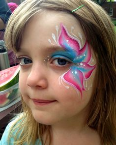 15 Easy Kids Face Painting Ideas for Little Girls (DIY) - Face Painting ideas, Face Painting Designs, Face painting pictures, Face painting for beginners, Ea - Face Painting Images, Face Painting Flowers, Eye Face Painting, Butterfly Face Paint, Face Art, Painting Pictures, Simple Face Painting, Easy Face Painting Designs, Face Images
