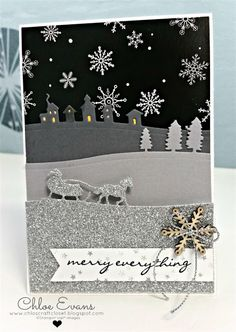Sleigh Ride Edgelits, Stampin Up, Jingle all the way, Christmas card