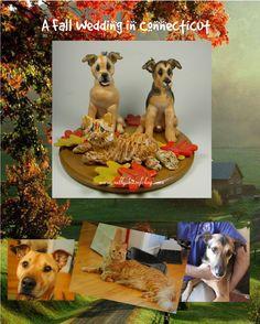 www.sallysbitsofclay.com  Dog Wedding Cake Topper Gallery #2