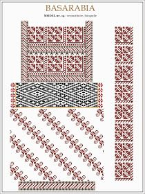 Moldova, north of Bessarabia Folk Embroidery, Ribbon Embroidery, Embroidery Patterns, Knitting Patterns, Cross Stitch Borders, Cross Stitch Patterns, Leather Repair, Moldova, Leather Pieces