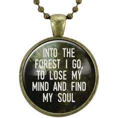 Into The Forest I Go Necklace ($15) ❤ liked on Polyvore featuring jewelry, necklaces, pendant jewelry and pendant necklaces