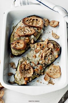 Baked Eggplant with mushrooms - Recipe