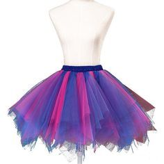 Wedtrend Women's 50s Vintage Petticoat Party Accessory Tutu (25 Colors) WTC10002Pink-BlueL-XL