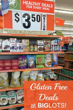 Save big on Gluten Free items at Big Lots. Plus learn more ways to save at Big Lots.