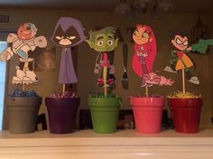 Teen Titans Go party table decorations