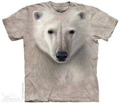 Polar Warrior T-shirt | Polar Bear T-shirts | The Mountain® | Big Face Animal T-shirts