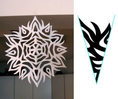 How to Make Paper Snowflakes: cutting