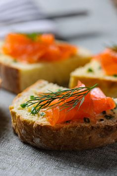 Irish Soda Bread, Chive Butter and Smoked Salmon - food photography by Paul S. Bartholomew.