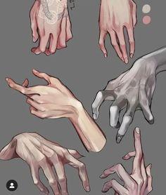 Human Figure Drawing, Manga Drawing, Illustrator Tutorials, Art Tutorials, Pencil Art Drawings, Art Sketches, Hand Drawing Reference, Hand Sketch, Digital Art Tutorial