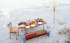 Que tal um almoco na praia?
