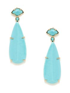 Oversized Stone Teardrop Earrings by Kendra Scott Jewelry on Gilt.com