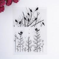 2016 New Scrapbook DIY Photo Album Cards Transparent Acrylic Silicone Rubber Clear Stamps Sheet birds