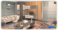 Jom Sims Creations: New Spackey livingroom • Sims 4 Downloads  Check more at http://sims4downloads.net/jom-sims-creations-new-spackey-livingroom/