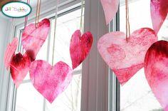 Crayon hearts.