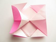 Easy Origami Twisty Rose Step 10