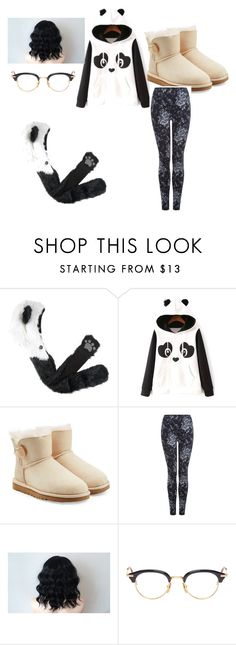 """""""Panda Express am I right"""" by unicornclass on Polyvore featuring UGG Australia, Dex, Thom Browne, women's clothing, women's fashion, women, female, woman, misses and juniors"""