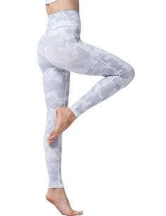 fb542921a480f Women's Camo Printed Leggings High Waisted Camouflage Workout Yoga Pants  Various Styles - Light Gray 2 - CF18KMZX0RS