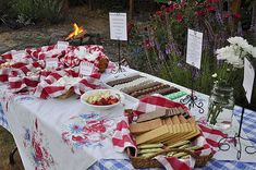 S'mores bar--what a fun idea for an outdoor party! Mostly I think I just want to have a party with rows and rows of different kinds of chocolate. :)