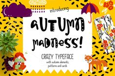 Autumn Madness Typefase & Elements by Qilli on @creativemarket