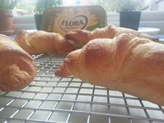 Flora Buttery and croissants! Croissants, Flora, Bread, Breakfast, Morning Coffee, Crescents, Brot, Crescent Roll, Plants