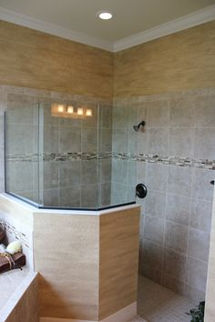 Heritage Bay - Oakmont Model - Master Bathroom Frameless Shower Enclosure