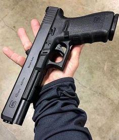 Glock 40 Having sore fingers from reloading your magazines? Military Weapons, Weapons Guns, Guns And Ammo, Military Brat, Armas Wallpaper, Ps Wallpaper, Glock Guns, Armas Ninja, Custom Guns
