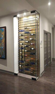 Wine Cellar Modern, Glass Wine Cellar, Wine Cellar Racks, Home Wine Cellars, Wine Rack Storage, Wine Rack Wall, Wine Wall, Wine Rack Design, Wine Cellar Design