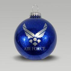 Air Force Blue Sparkle Ornament