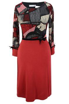 Aldona sukienka z kokardką koronka czerwona #lace #dress #red #bow #cute #fashion #outlet
