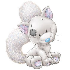 Tinsel the Arctic Fox ♥ - Tatty Teddy Friends Tatty Teddy, Teddy Bear, Cute Images, Cute Pictures, Animal Drawings, Cute Drawings, Baby Animals, Cute Animals, Blue Nose Friends