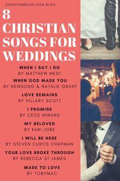 11 Christian Songs For Weddings Best Wedding Songs regarding Christian Songs Wedding - Party Supplies Ideas Christian Wedding Songs, Best Wedding Songs, Wedding Playlist, Wedding Dj, Christian Music, On Your Wedding Day, Perfect Wedding, Wedding Ideas, Wedding Planning