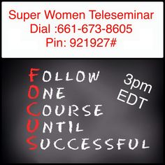 Ladies are you finding it hard to focus? Jump on the Super Women Connection Daily Teleseminar today and learn how to get more done in less time by improving your focus. I am excited for the call! Super Women, To Focus, Improve Yourself, Connection, How To Get, Learning, Study, Teaching, Studying