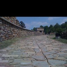 Stone road, Veliko Tarnovo, Bulgaria