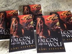 "Gabi Stevens on Twitter: ""Look what arrived today. Real, honest-to-goodness, touchable copies of THE FALCON AND THE WOLF. https://t.co/XJBltROO7G"""