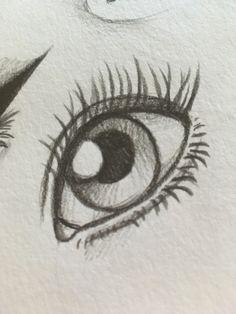 ojos Easy Eye Drawing, Drawing Eyes, Realistic Eye Drawing, Painting & Drawing, Eye Drawings, Doodle Drawings, Doodle Art, Pencil Drawings, Sketching