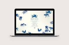 Logo and website with illustrative detail by Elise Lampe for Melbourne food store Sweet Greek designed by Studio Bravo