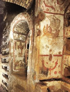 The Catacombs of Rome are ancient catacombs, underground burial places under Rome, Italy,