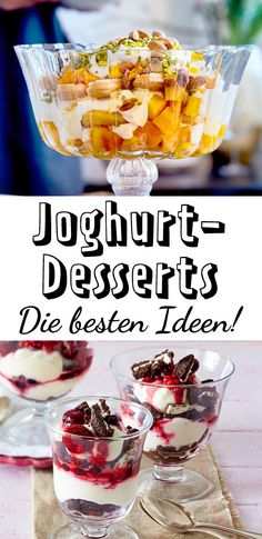Fürs Wochenende oder den Alltag - für jede Lebenssituation gibt es das perfekte #Dessert mit #Joghurt! Hier sind unsere schönsten #Rezepte