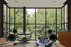 Philip Johnson / Wiley House / living room