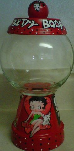 Betty Boop Candy Jar handmade hand painted by punkimunki on Etsy, $25.00