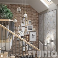 Brick Wall, New Homes, Stairs, Wall Decor, Dining, Interior Design, Hallways, Inspiration, Home Decor