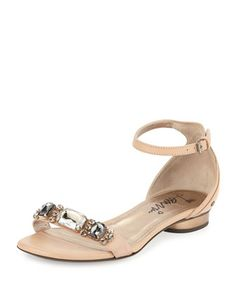 Crystal-Toe-Strap+Sandal,+Nude+by+Lanvin+at+Neiman+Marcus.