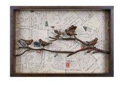 31 Postcards with Birds on Branch 3-Dimensional Hand Finished Wall Art by Diva At Home, http://www.amazon.com/dp/B008ELNAJK/ref=cm_sw_r_pi_dp_DCGBrb0VBNWV6 A cleaver way to keep those postcards!