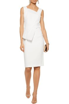 Shop on-sale Roland Mouret Glenview cloqué-paneled crepe peplum dress. Browse other discount designer Dresses & more on The Most Fashionable Fashion Outlet, THE OUTNET.COM